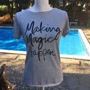 "Inspirational ""Making Magic Happen""Gray T-…"